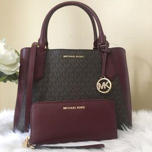 Michael Kors Kimberly satchel & continental wallet